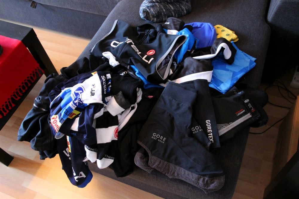 These clothes I was to put on every day, many layers thermals and underwear...
