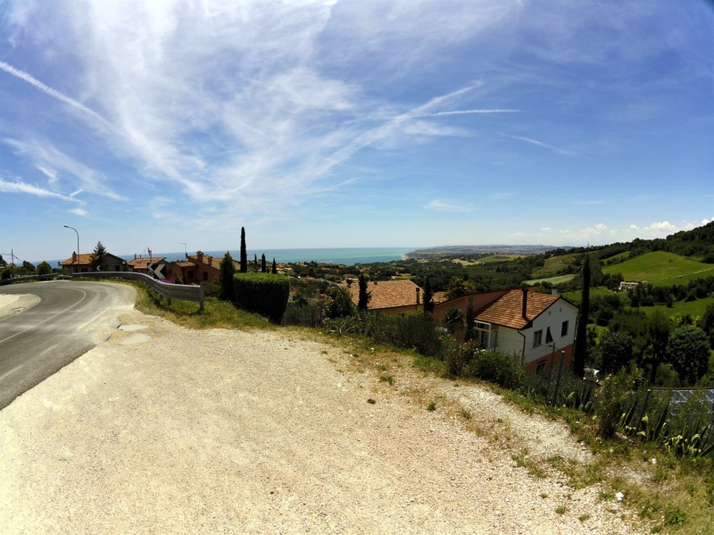 Sirolo, heading for Monte Conero and the Adriatic sea