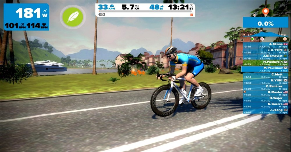 Zwift has made my indoor training much easier this year