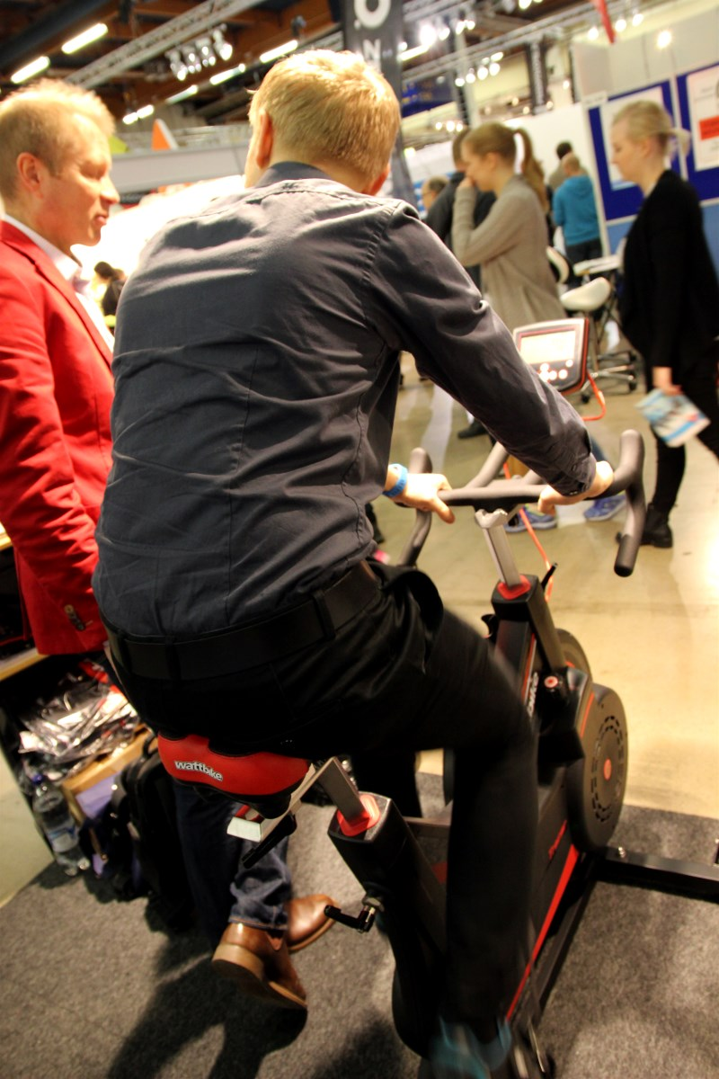 Also got to test the Wattbike. Felt really good and in Finland you can get one for roughly 90 € per month if you don't want to buy it for yourself.