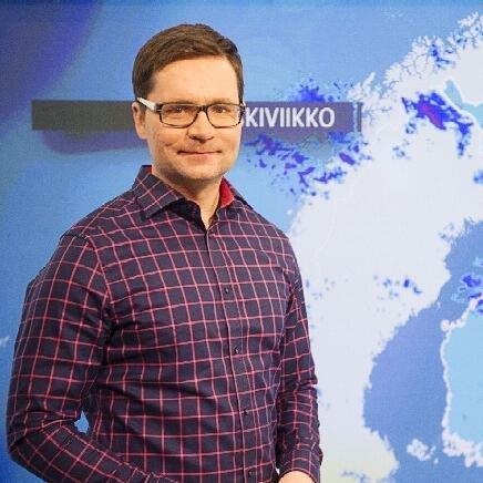 Matti Huutonen, Meteorologist at YLE (picture from Twitter @ MattiHuu_YLE  )