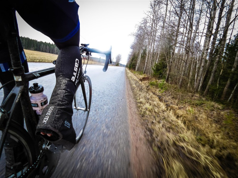 Riding outdoors despite bad weather beats hitting hours indoors.
