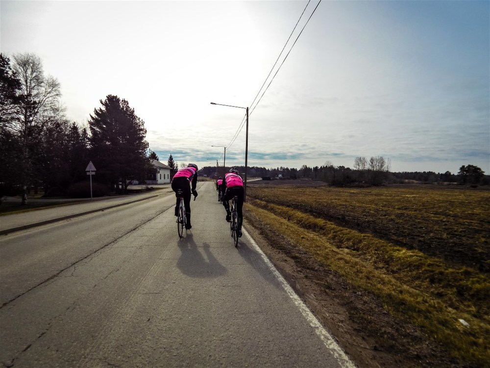 First group ride this year was all fun despite really chilly conditions