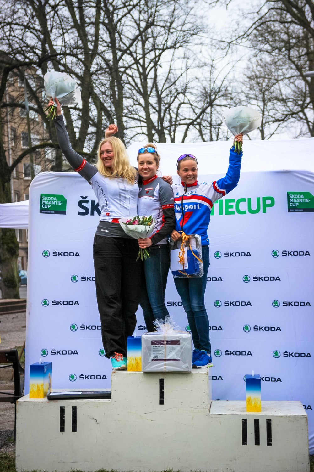 Women podium from left: Onger, Törmänen, Väkervä
