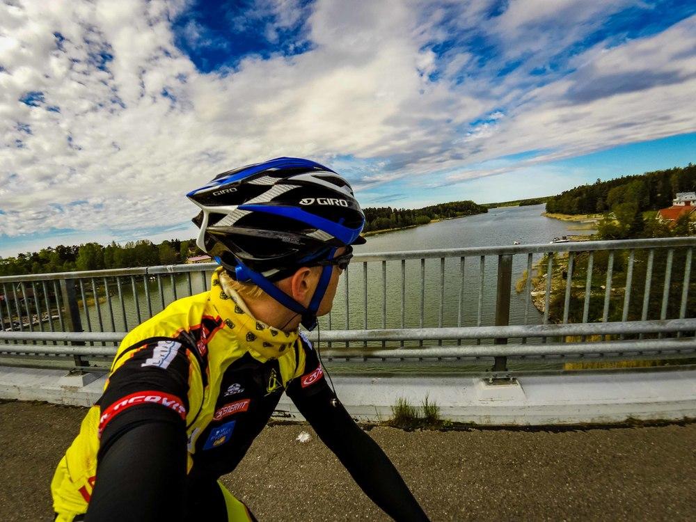 Enjoying the view in Merimasku