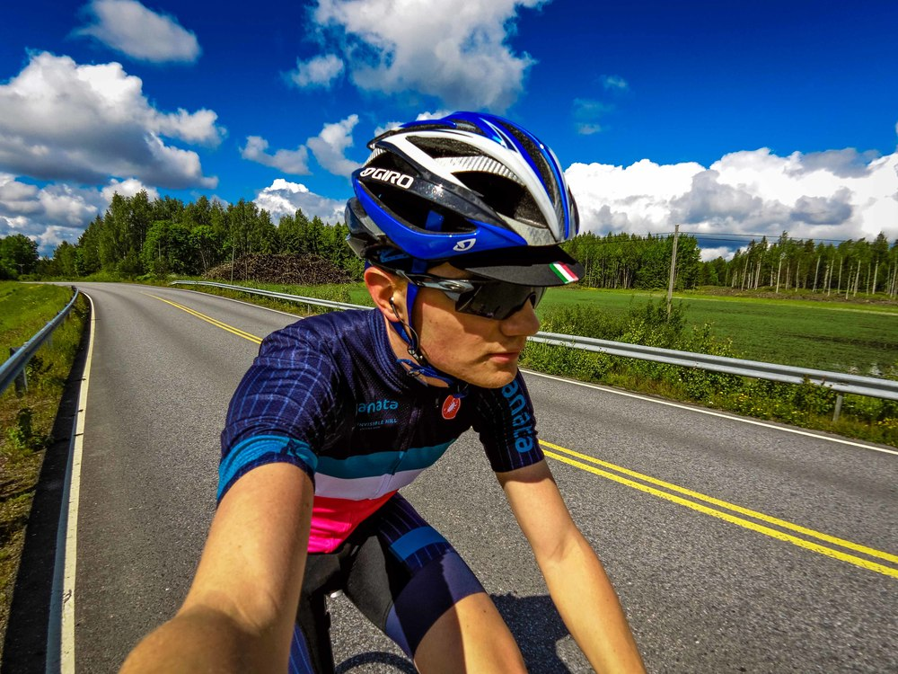 Riding in the new Kanata team kit