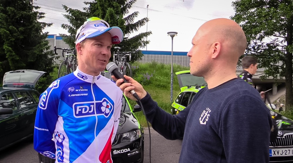 Interview with Jussi Veikkanen before the race