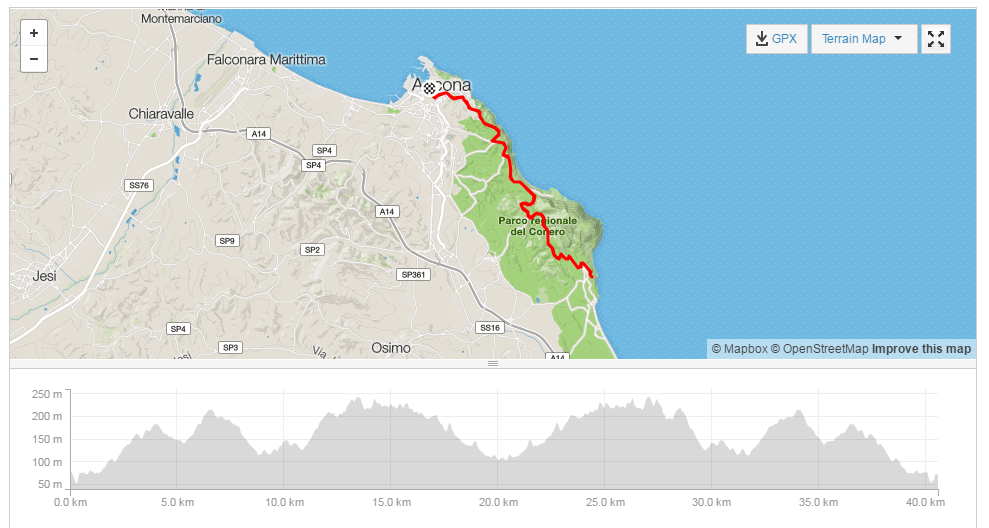 Click to open route in Strava