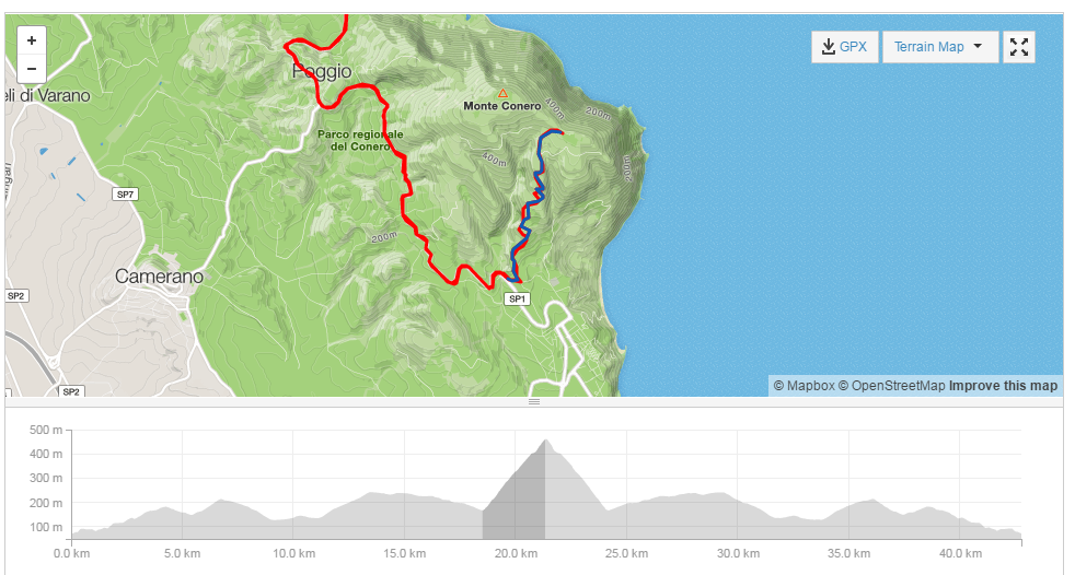 Click to open segment in Strava