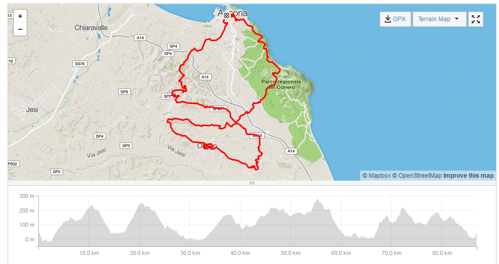 Click to open in Strava.