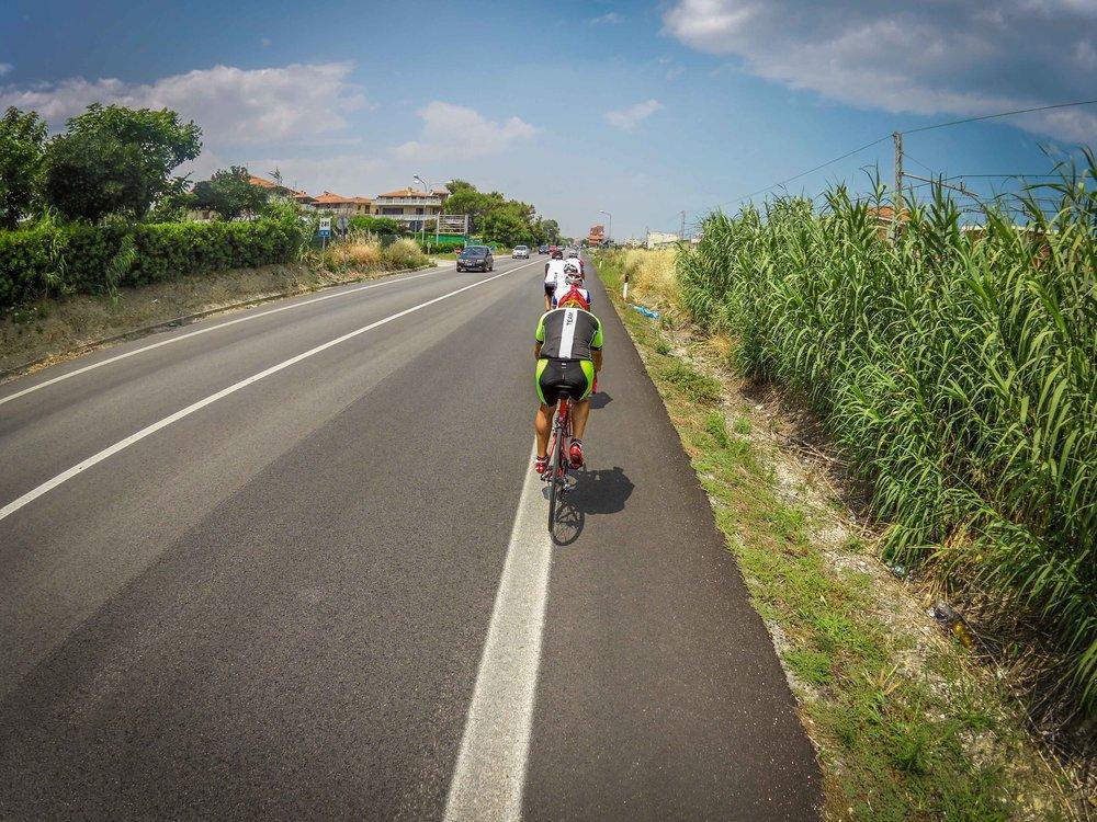 Cycling towards Senigallia