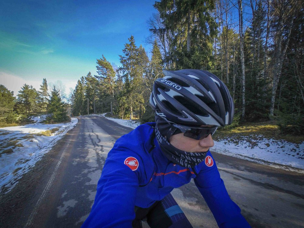 I opened the roadcycling season in Finland April 11th. Almost a month later than during the previous years.