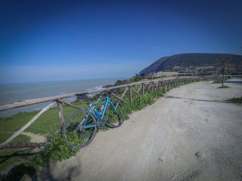 Day 4 was still windy, so had to adjust my riding accordingly. Visited good ol' Monte Conero and my old hometown Ancona