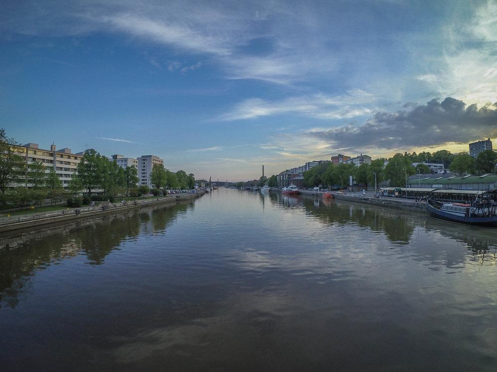 Calm May-evening in Turku