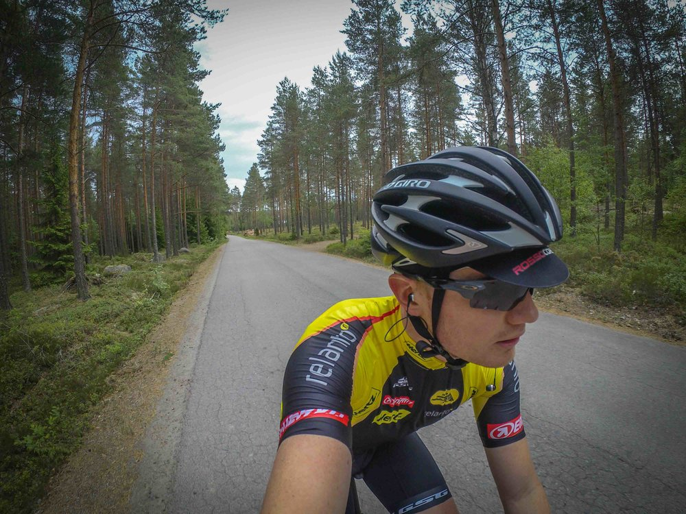 Riding in the forests of Paimio