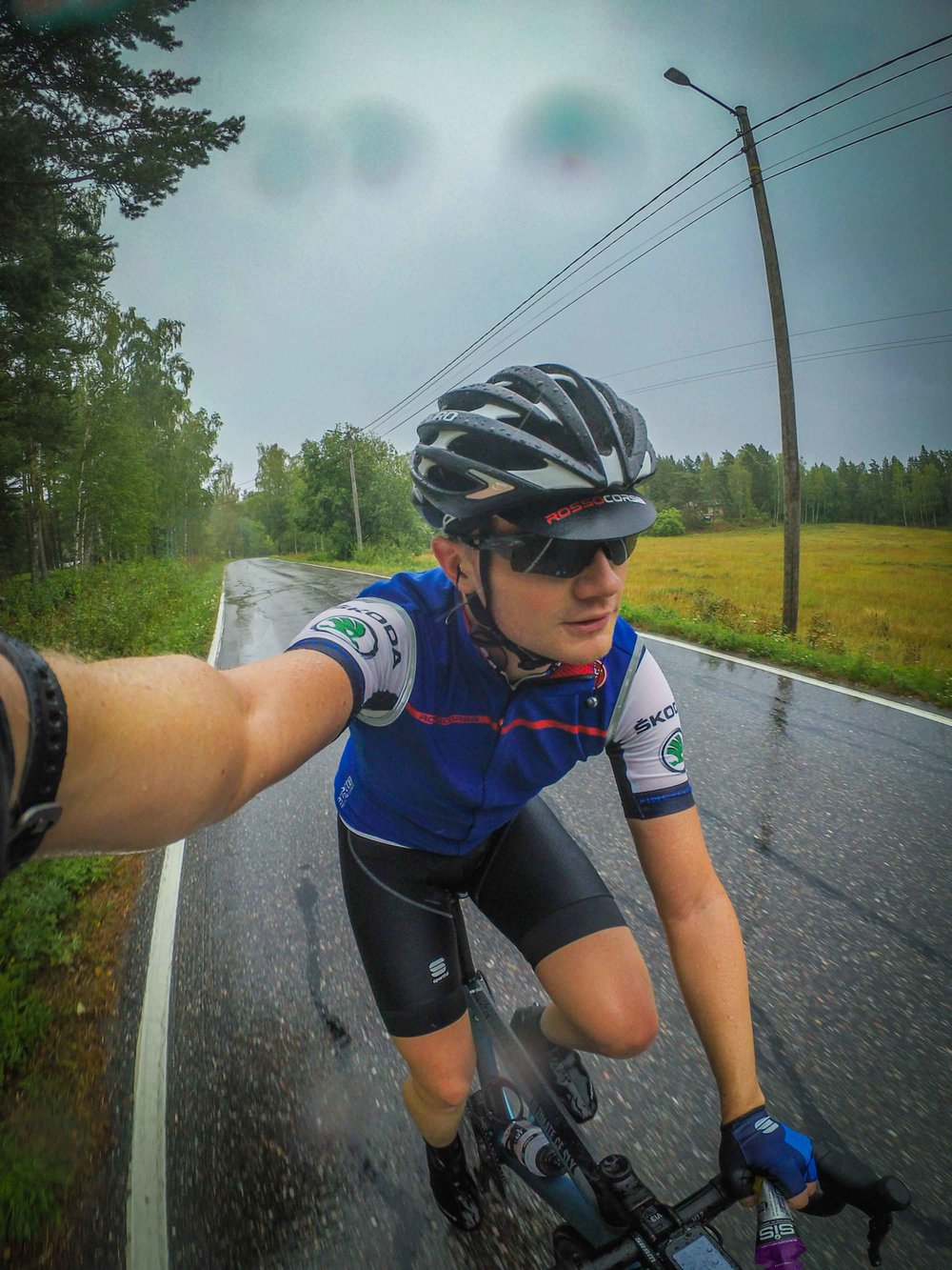 Rainy rides with already added layers of clothing.