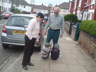 Nana & Grandpa walk