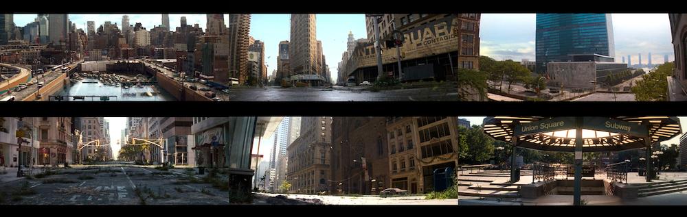 The opening six shots of  I Am Legend  [2007]