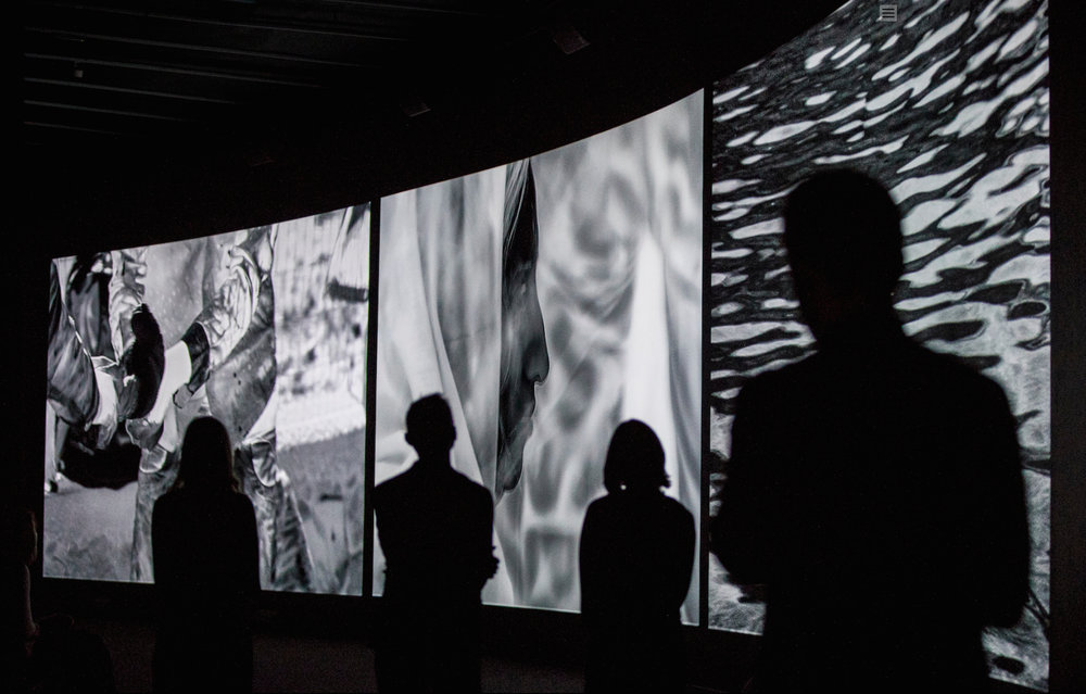 Installation view of Incoming by Richard Mosse. Photo: Tristan Fewings/Getty Images