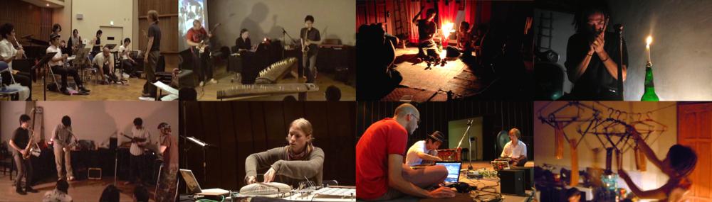 Improvisation performances and workshops: [left] Tokyo, 2009-2010 and [right] Yoygyakarta, 2008