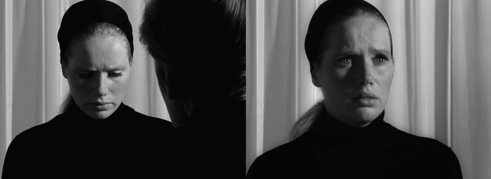 The perpetual listening ear: Liv Ullmann in Bergman's sublime  Persona  [1966].