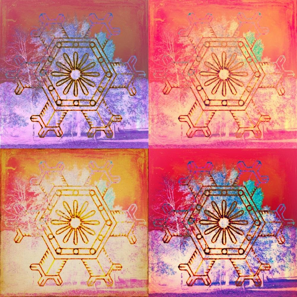 Warhol Inspired Snowflakes