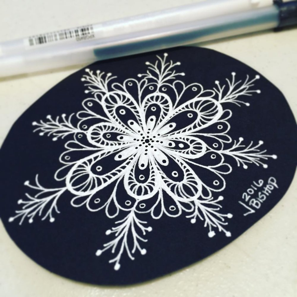 Another quick doodle for a letter. #whitegelpen #drawing #doodle #sketch