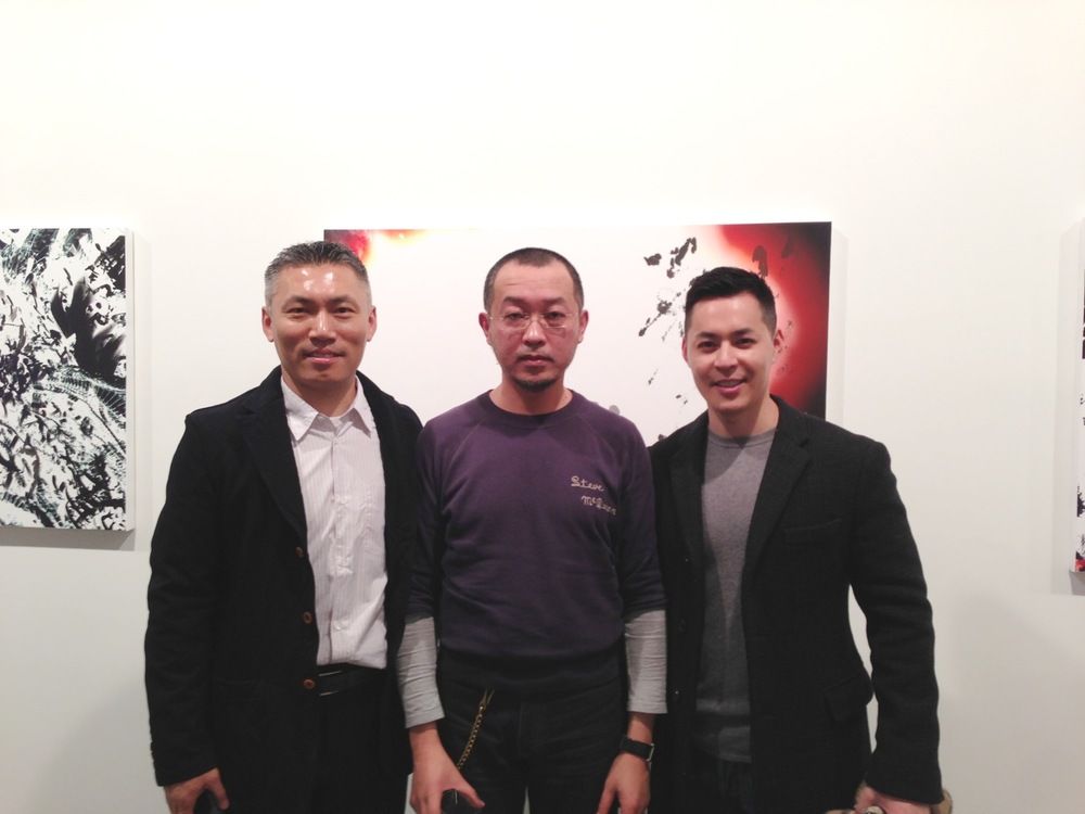 With Chris Mao and Feng Mengbo