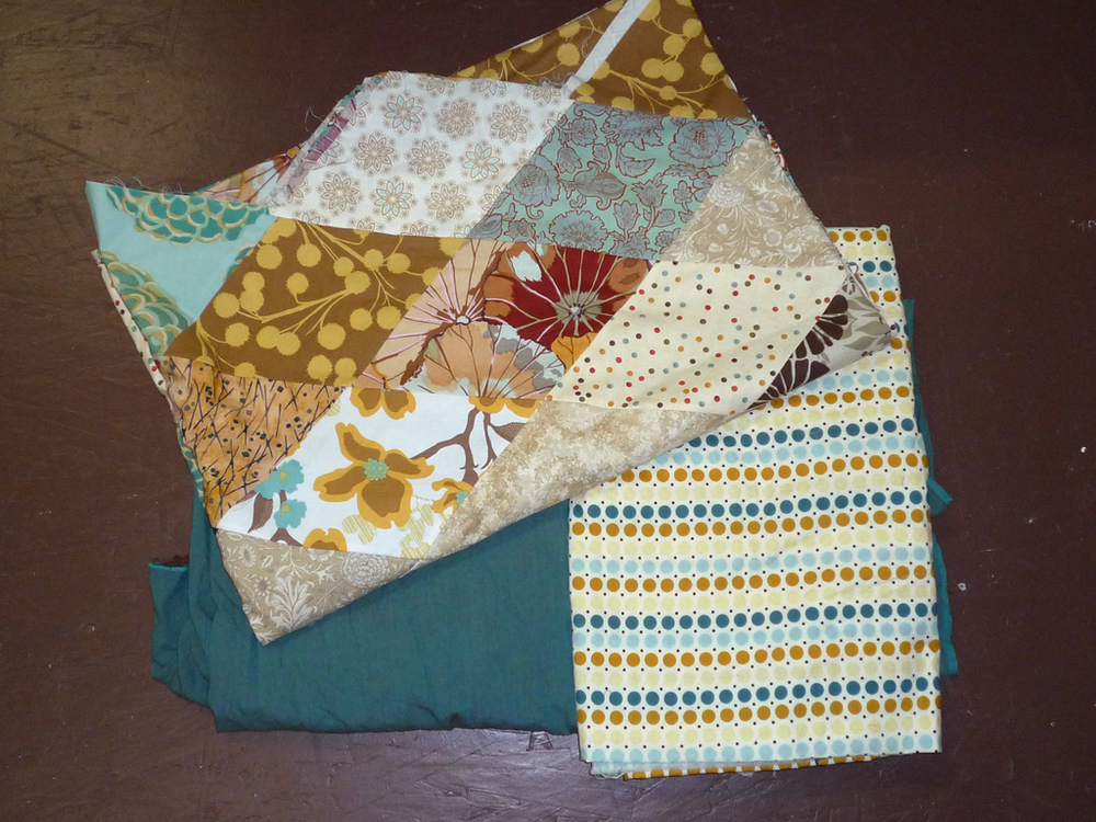 3.) My icy-cool diamond throw quilt