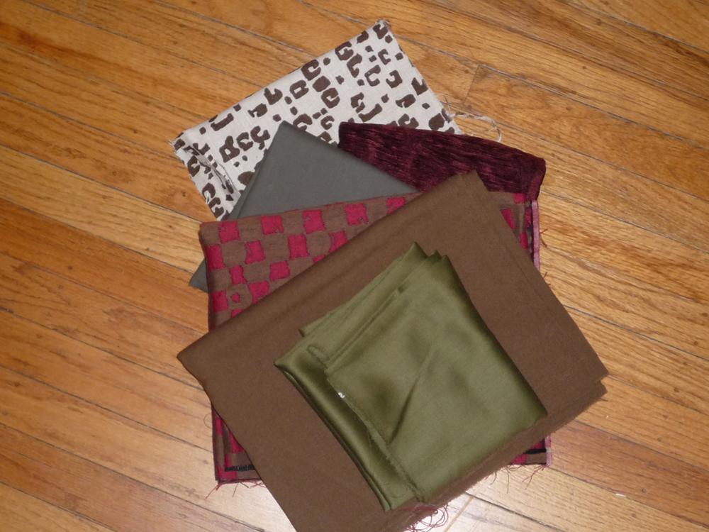 New fabrics to work with - future napkins, coasters and pot holders (hopefully).
