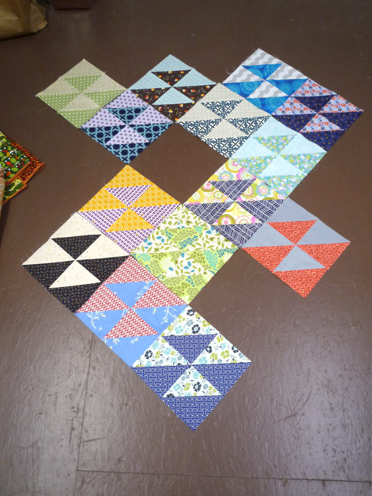 Blocks from the April round of do. good stitches Bliss circle.