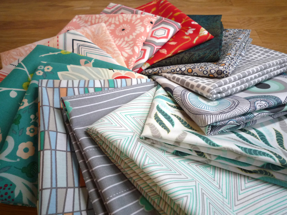 An assortment of fabrics from Art Gallery