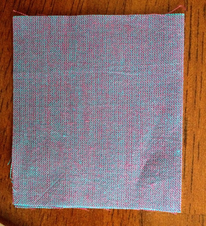 close-up of Rowan Shot Cotton - Blueberry