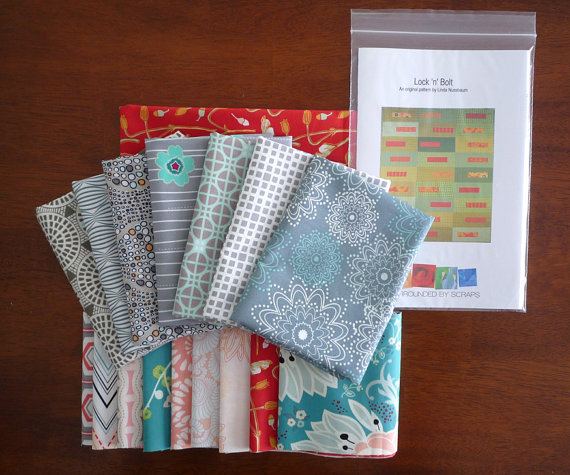 The new Lock 'n' Bolt kit featuring assorted prints from Art Gallery Fabrics.