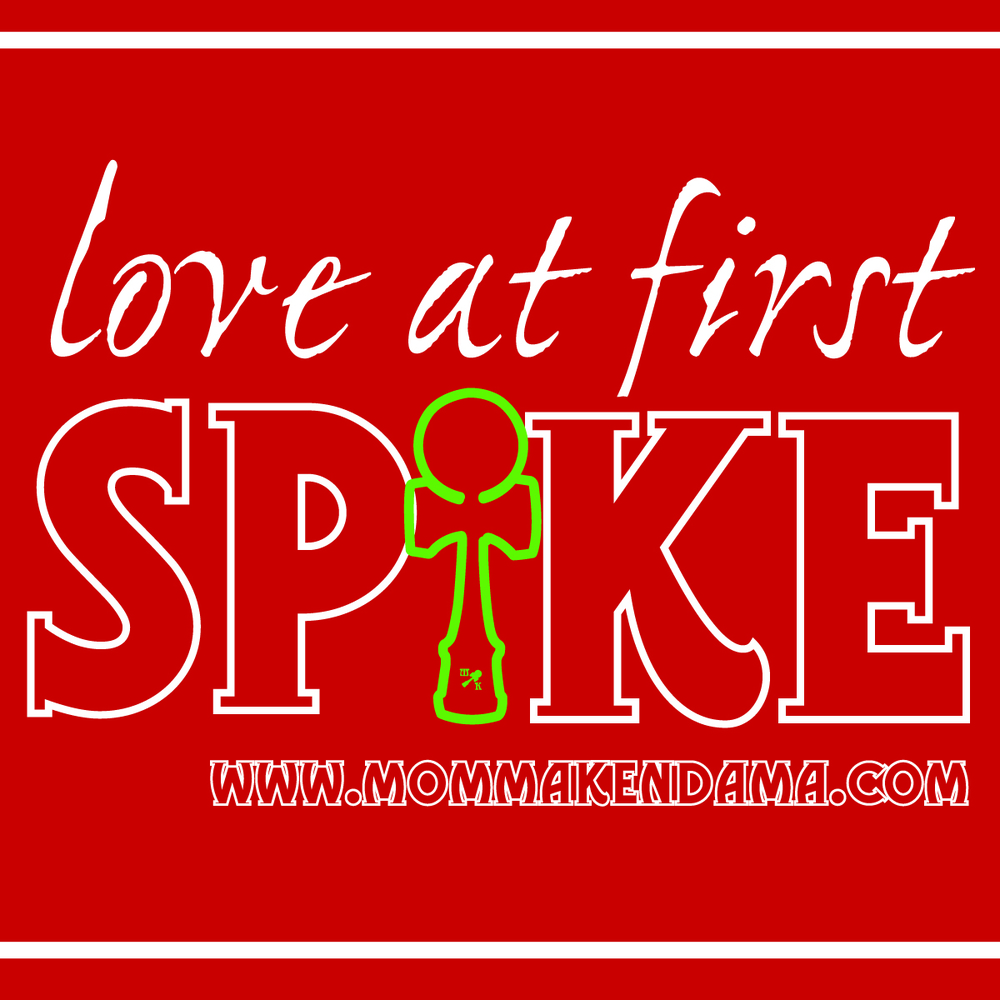 'love at first spike' sticker