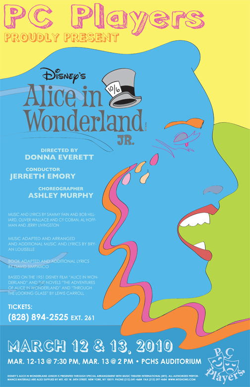 'alice in wonderland' show poster