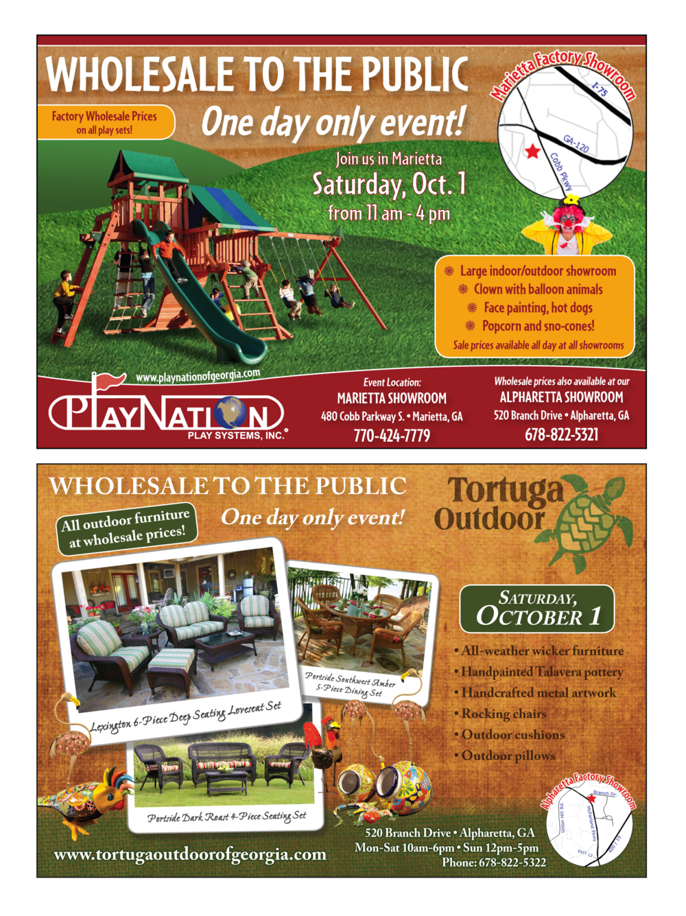 2011 playnation and tortuga outdoor annual sale ad