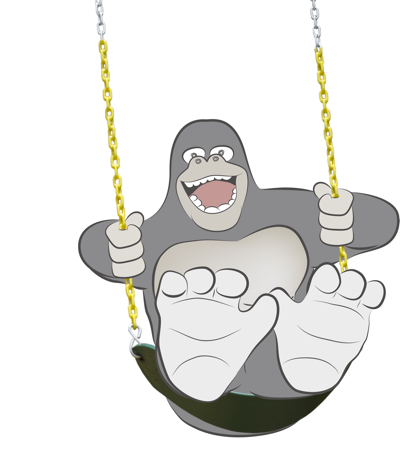 swinging gorilla