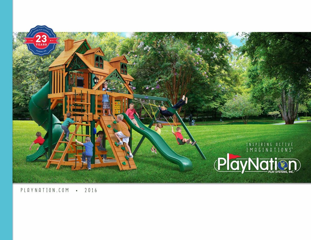 Annual product catalog for PlayNation. I designed and created it from concept to final print. 148 pages.