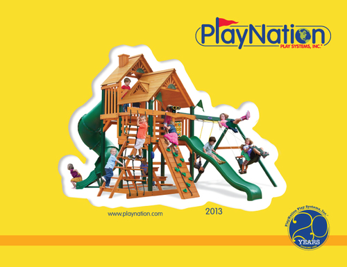 Annual product catalog for PlayNation. I designed and created it from concept to final print. 122 pages.