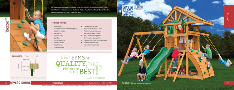Inside spread for 2013 PlayNation catalog. I designed and created it from concept to final print.