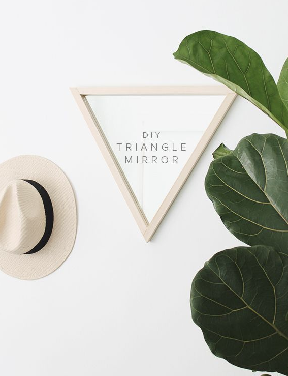 diy triangle mirror by almost makes perfect