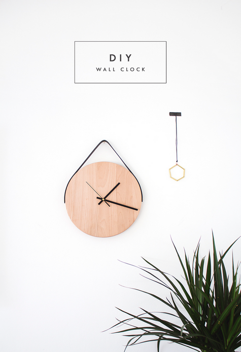 diy wall clock by the lovely drawer