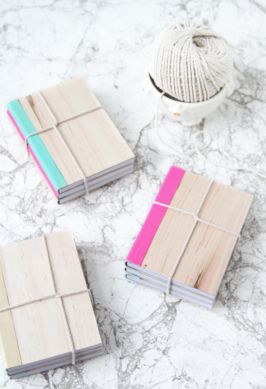 diy wooden book cover by paper and stitch