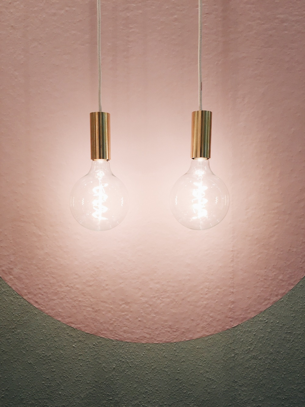 NUD Collection brass light with textile cable
