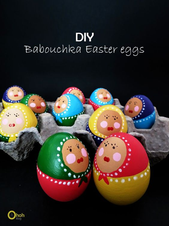 DIY babouchka easter eggs