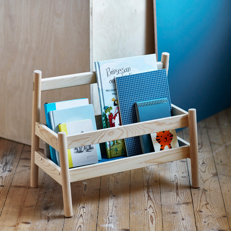 wood kids bookshelf by ikea flisat