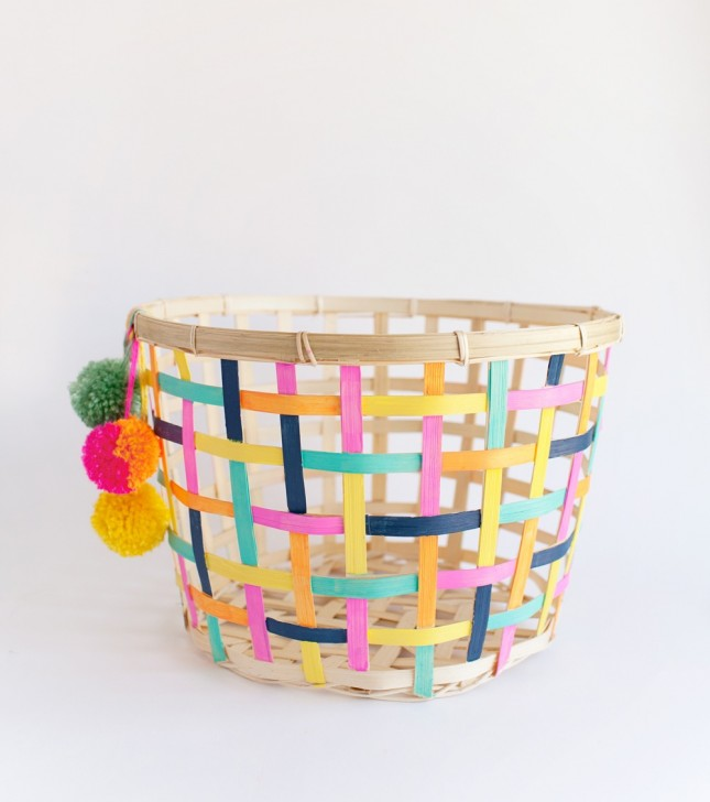 DIY painted basket | easy makeover