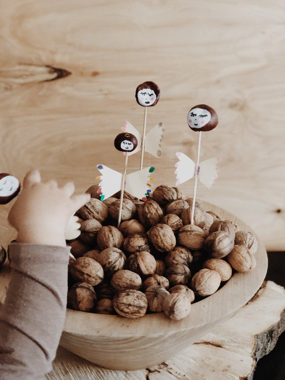 Kastanienelfen für Kinder Easy peasy DIY im Herbst