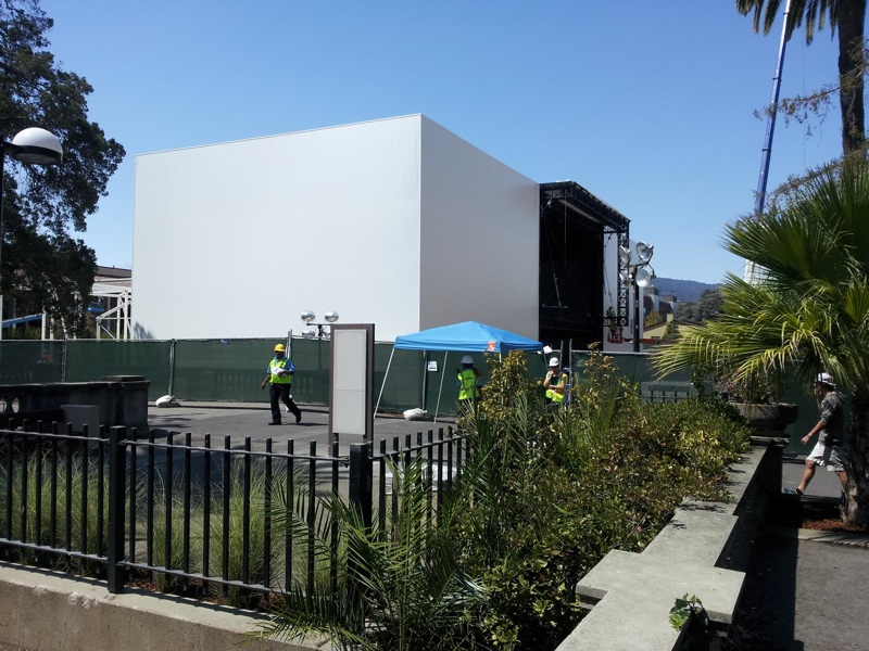 Giant Building that Apple has constructed just for this announcement.